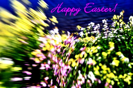 happy easter 2008 created with a lensbaby baby