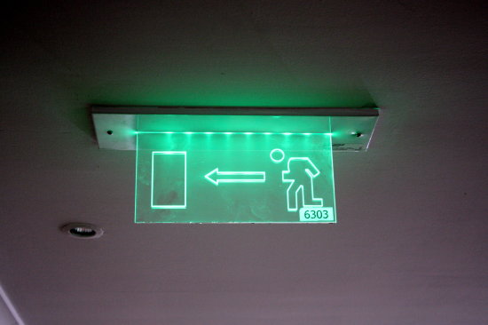 exit light green