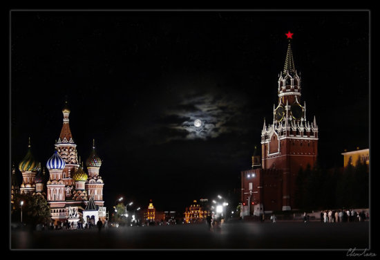 Kremlin Moscow palace night