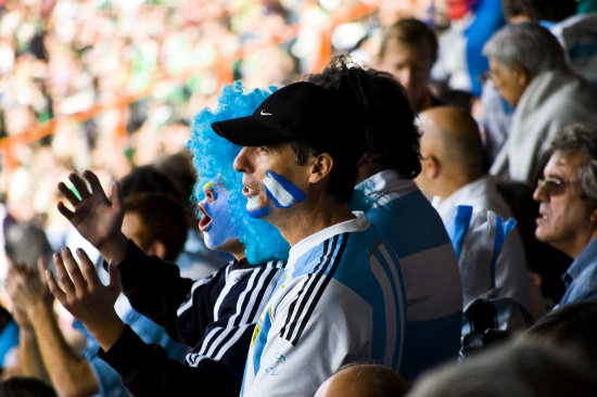 Argentina fans puma rugby world cup