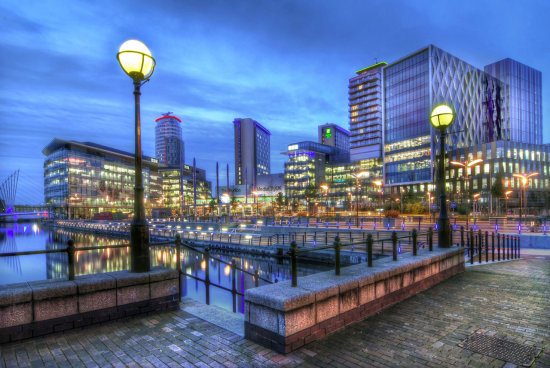 HDR Landscape Architecture Night Manchester