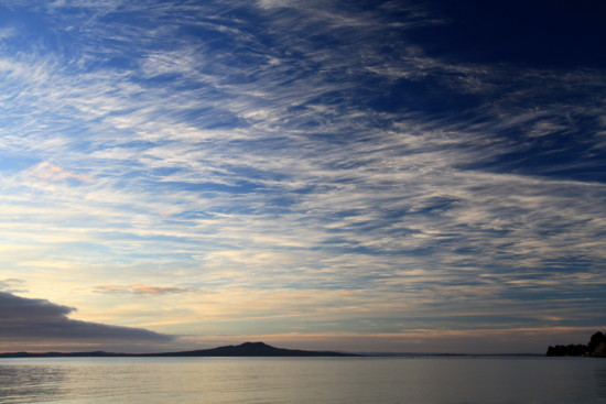 Morning sky over Rangitoto