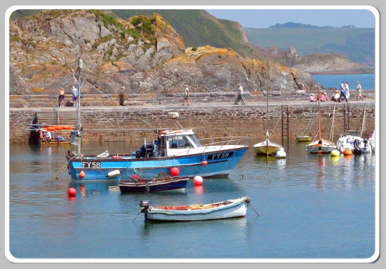 Coast Sea Boat Harbour Cornwall Water MMVI