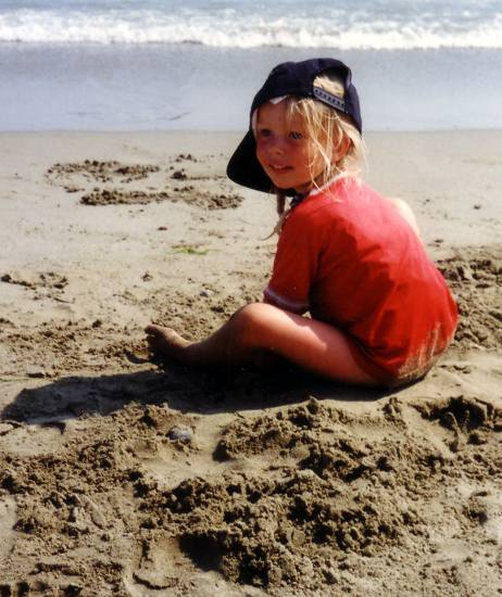 "Another ""old one"" Cherilyn on the beach of Alanya in 96"