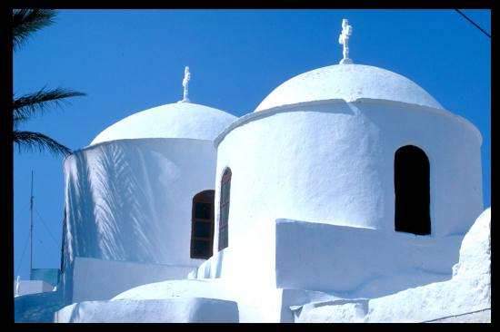 greece greekislands patmos churh domes bluesky