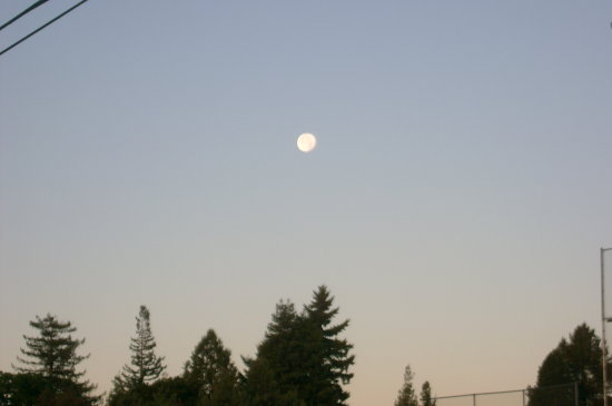 sunrise moon haze
