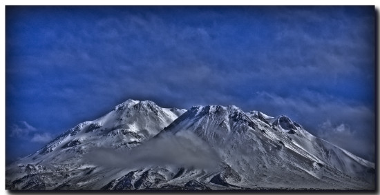 Mount Mt Mountain Shasta California HDR single exposure Canon 450D Siskiyou
