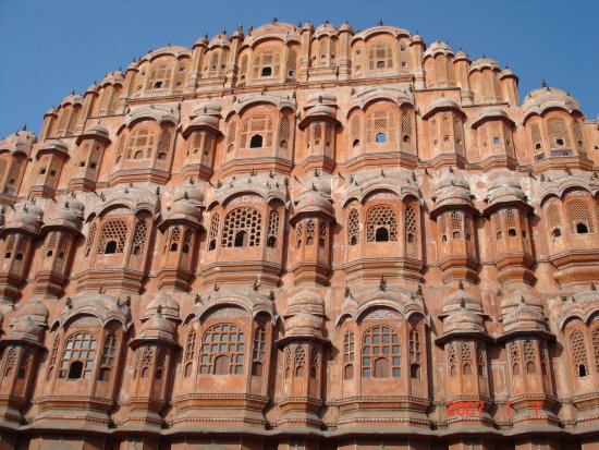 India Jaipur Hawa Mahal Palace of Winds