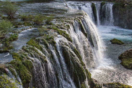 waterfall nature river zrmanja croatia