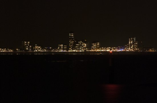 Night Skyline City Vlissingen