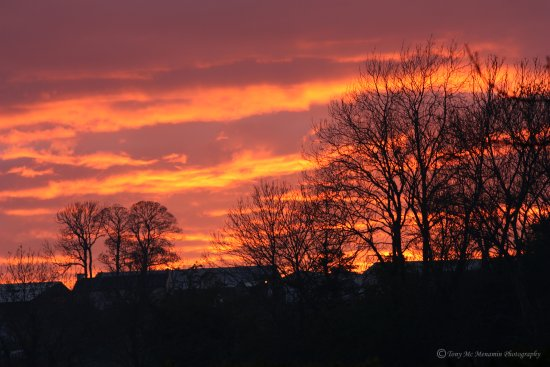 sunset friday 13th April 2012