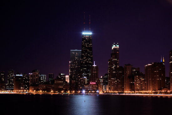 Chicago downtown night shot