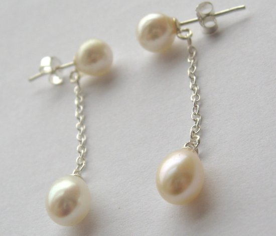 white pearl earrings silver crimeajewel