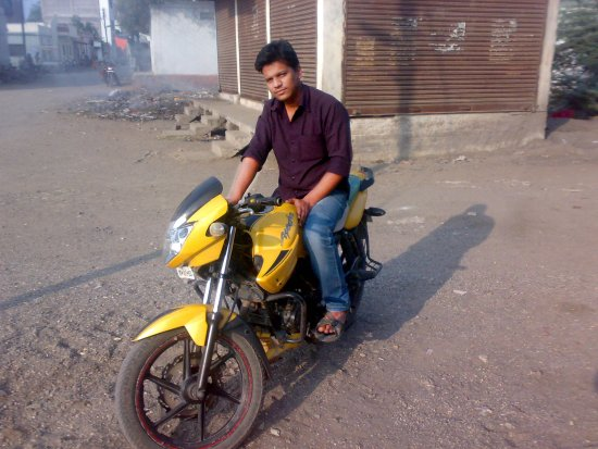 khan on apache bike