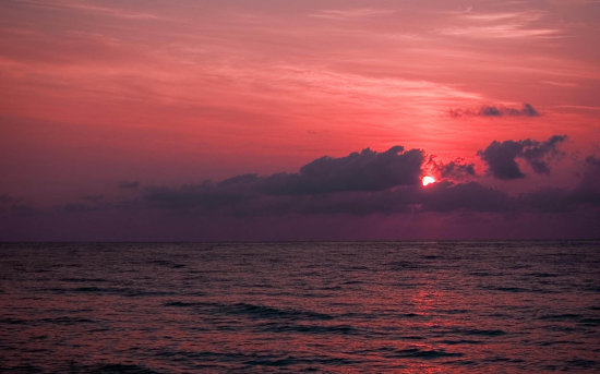Sunrise Fort Lauderdale Florida red sky brilliant beautiful ocean sand coast