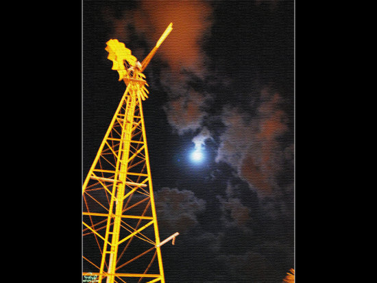 Kish Iran Moonlight