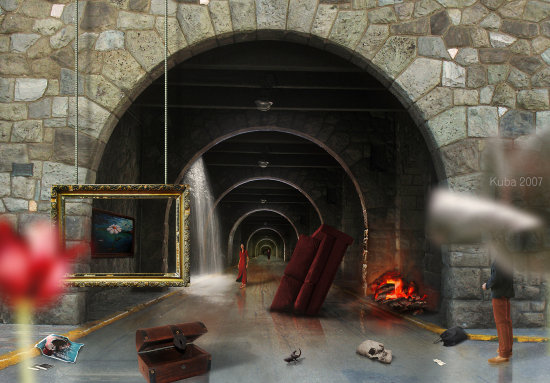 tunnel tunel alejandro arrojo kuba red rojo woman dreams surrealism sueos