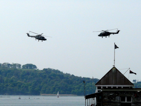 helicopters plymouth sound