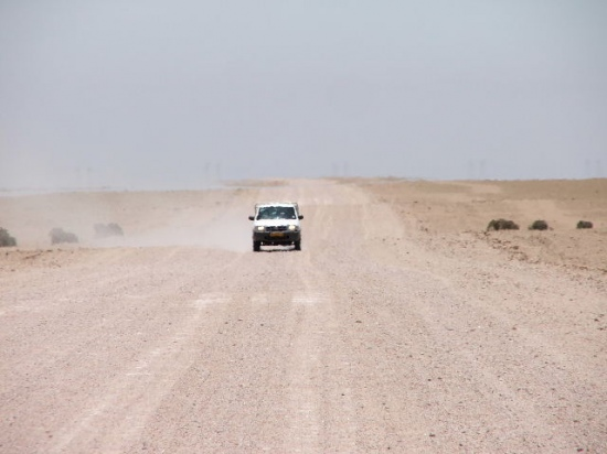 Namibian Desert There is almost no traffic on this road approximately 3 cars per weak