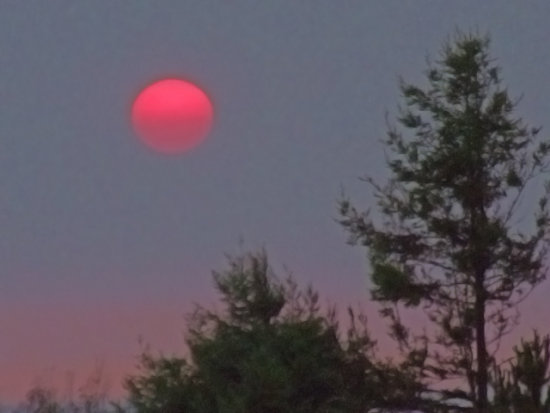 Smoky Sunset, July 9, 2008