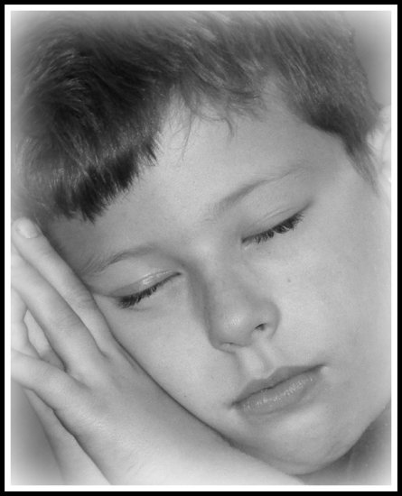 boy son sleeping portrait
