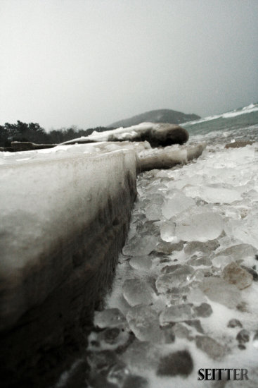 Sand Ice Leland Beach MI