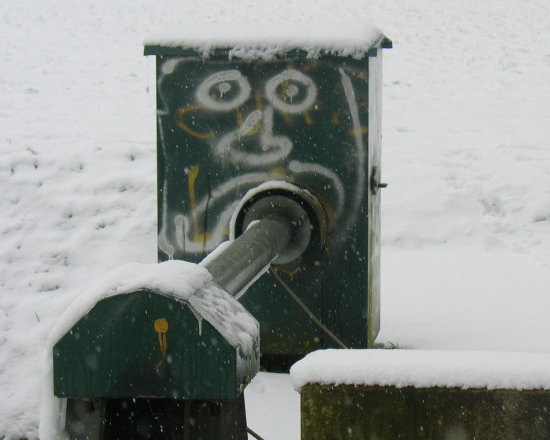 snow grafitti