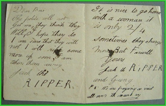 Chilling - This is a photograph of an original Jack the Ripper ...