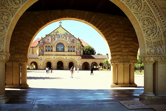 On the campus of Stanford university USA Stanford April 1995