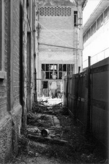 BW abandoned place factory Ilford