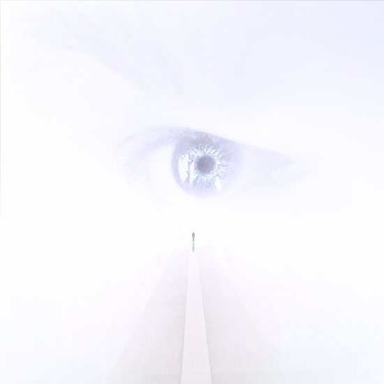 abstract surreal white space road heaven people eye watch series keitology
