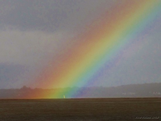 Closer Rainbow Skalderviken Skane Sweden October 2012 Sea