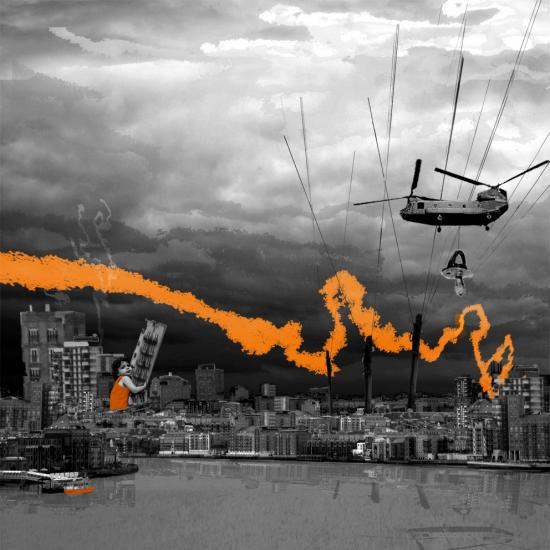 dystopia toddler baby reflection helicopter photoshop surreal art distopia