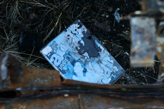 decadent cd case found in burnt scorpio