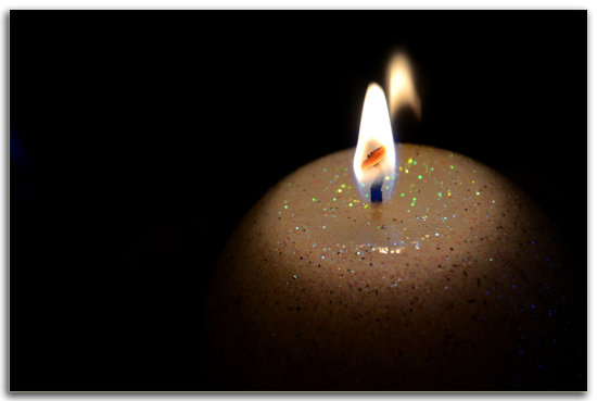 candle fire romantic