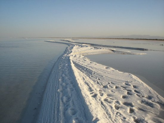 Salt in Urmia Lake
