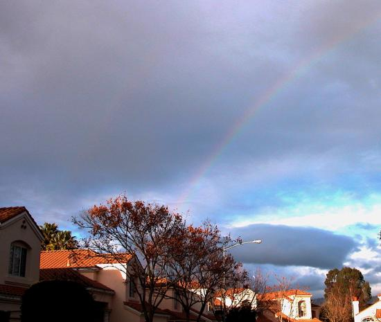 california neighborhood newyears rainbow