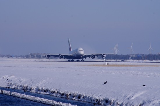 airplane schiphol winter A380