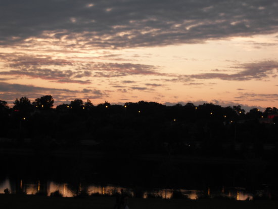 This is Beardsley Park at sunset