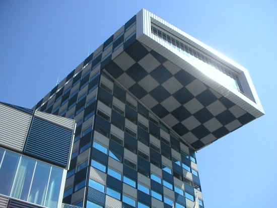 rotterdam architecture building harbour sun reflection