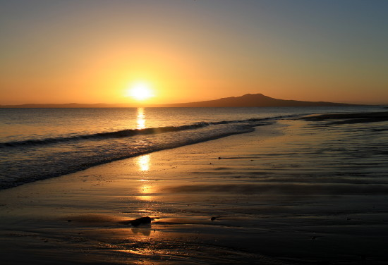 reflectionthursday sunrise rangitoto