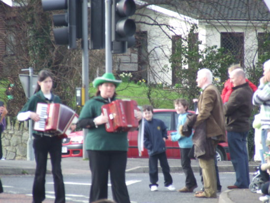 St Patricks Day accordion band