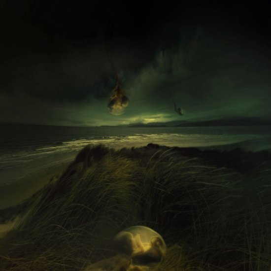 surrealism dark landscape beach philosophical foetus light storm keitology