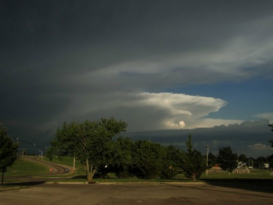 Storm clouds over Fort Riley Kansas