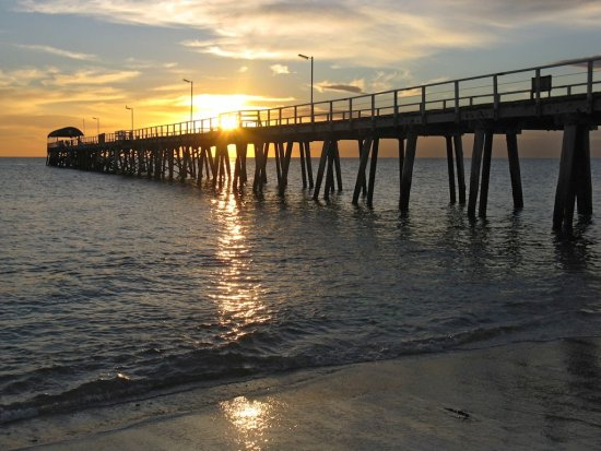 adelaide oz jetty sunset xaragma