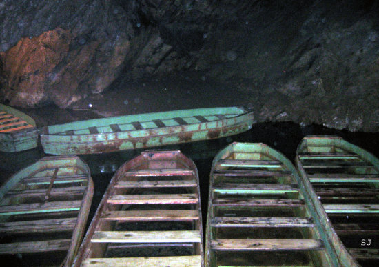 caves boats water
