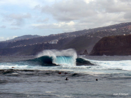 Surfing waves Tenerife
