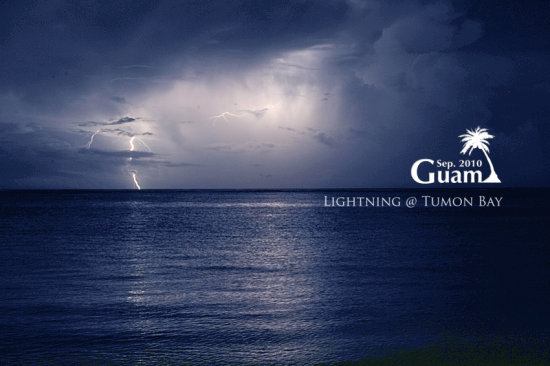 lightning Tumon Bay Guam