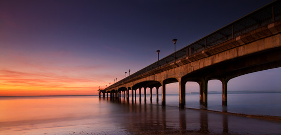 Boscombe Bournemouth Dorset Beach Sea Coast Sunrise Pier