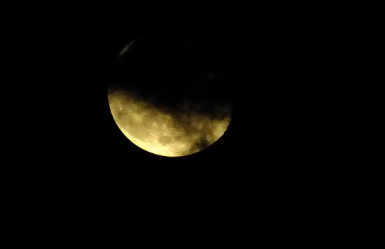 After several attempts at last I could take a moon shot though some clouds were there.  View or...